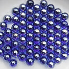 20 100X 16mm Blue Glass Beads Marbles Kid Adult Toy Fish Tank Decorate