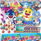 BABY SHARK Party  BALLOONS BALLOON BANNER DECORATION CUPCAKE TOPPER bracelet