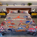 New NBA Basketball Team  Bedding Sets Cotton Duvet Cover Bed sheet Home Textile on eBay