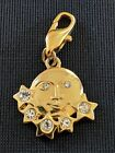 Small Gold Tone & Crystal Sun/Moon Pendent