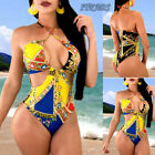Women Push Up Padded Bra Bikini Set High Waist Swimsuit Bathing Suit Swimwear US