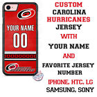 CAROLINA HURRICANES PHONE CASE COVER with NAME & No. FITS iPHONE SAMSUNG LG etc $19.98 USD on eBay