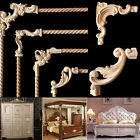 10Pcs Rubber Wood Carved Corner Onlay Applique Frame Unpainted Furniture