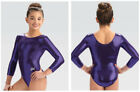 GK ELITE Scoop back 3-4 Sleeve Mystique LEOTARD Child & Adult Sizes SIX COLORS