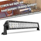 22 inch 120W Led Light Bar Spot Flood Combo Work UTE Truck SUV ATV