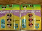 2 Vintage NIP Minnie and Mickey Mouse Button Biters Covers Brookside Disney 1991