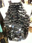 Betty Jackson (BJ KNITS) Black Sequin Halter Neck Top