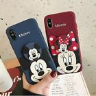 Mickey Minnie Case With Pop Up Holder Phone for iphone 6 7 8 Plus X Cases Socket