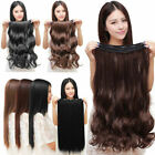 100% Natural Lady 3/4 Full Head Clip In Hair Extensions Straight Curly Wavy U8K7