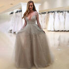 Lace Long Formal Wedding Cocktail Evening Ball Gown Party Prom Bridesmaid Dress