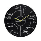 Creative Wooden Wall Clock Funny Function Formula Wood Watch Home Decor