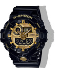 New Men's Casio G-Shock Black and Gold Tone Analog Digital Watch #GA710GB-1A