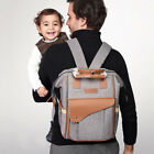Water Resistant Baby Diaper Bag Frame Trapeze Backpack Nappy Changing for Dads