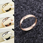 6mm Men Women Band Ring Wedding Polished Stainless Steel Party Engagement Sz7-11