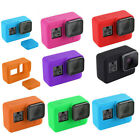 Anti-scratch Silicone Protect Case Cover Housing + Lens Cap For Gopro Hero 7