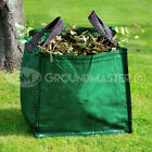 GroundMaster 150L Garden Waste Bags - Large Heavy Duty Refuse Sacks With Handles