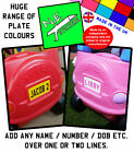 Personalised BACK number plate sticker TO FIT Little Tikes Cozy Coupe toy car