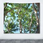 Wall Tapestry Wall Hanging Printed USA Photo 45 Tropical Palm Trees Green Blue