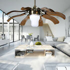 "42"" Remote Control Modern LED Ceiling Fan Lamp with 8 Blades Choose 2 Colors US"