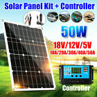 50W Watt 12V-18V Solar Panel Battery Charger Grid Car Motorhome RV Craft Outdoor