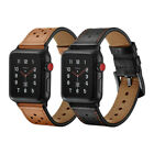 Premium Genuine Leather Watch Band Strap For Apple Watch Series 5 4 3 44mm 42mm image