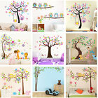 Nursery Removable Owls Tree Wall Stickers For Kids Room Home Decor Yh