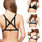 Cage Back Bralette Strappy Cutout Bra Elastic Cotton Crop Top - MANY COLORS