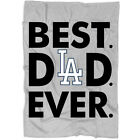 Best Dad Ever Los Angeles Dodgers Blanket, Cool Father's Day Blanket on Ebay
