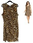 2X 18 20 SEXY Womens LEOPARD PRINT FAUX-WRAP DRESS Day/Evening Summer PLUS SIZE