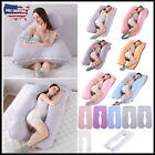 New Large Pregnancy Pillow Maternity Belly Contoured Body U Shape Extra Pregnant image