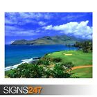 GOLF HAWAII (3292) Beach Poster - Photo Picture Poster Print Art A0 A1 A2 A3 A4