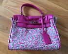 Anoki Paris Pink Floral Purse Handbag With Removable Strap