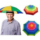 Foldable Adjustable Sun Umbrella Hat Outdoor Fishing Camping Headwear Head Cap