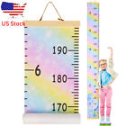 Wooden Kids Baby Growth Chart Home Decor Wall Hanging Height Measure Ruler Us