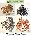 100 Tungsten Slotted Disco Beads - Pick Size & Color