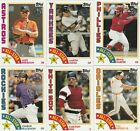 2019 TOPPS SERIES 2 BASEBAll 1984 TOPPS BASEBALL INSERT U-PICK COMPLETE YOUR SET on Ebay