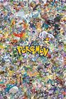 Pokemon Collage Poster - All Characters Pikachu Charizard - NEW - 11x17 13x19