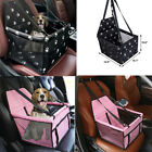 HIPPIH Collapsible Pet Booster Car Seat 2 Support Bars Portable Small Dog Cat