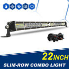 Ultra-thin 22inch 624W LED Work Light Bar Spot Flood Combo Truck +Wiring Kit 20""