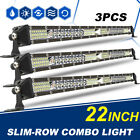 3X Slim Row 22inch Total 1872W LED Work Light Bar Spot Flood Combo Truck 20""