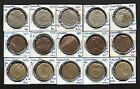 15x Colombia Coins, dated 1974-1988, various denominations