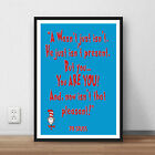 Dr Seuss Quote 'A wasn't just isn;t' print quote poster kids wall art books