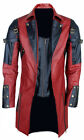 NEW MENS STEAMPUNK GOTHIC LEATHER TRENCH COAT JACKET