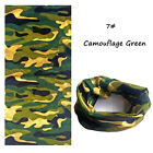 Biker Tubes Bandana Magic Scarf Balaclava Neck Gaiter Snood Face Mask Skull Camo