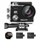Dragon Touch Vision 3 HD 4K/30fps WIFI Action Camera 16MP DV Camcorder+32G SD US