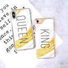 FC King Queen Mrs Mr Him Her Couple Phone Case/Cover For iPhone & Samsung
