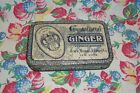 VINTAGE Grocery Store GINGER SPICE TIN Metal Litho ACKER MERRALL&CONDIT New York