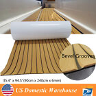 6mm EVA Decking Foam Boat Rubber Flooring Cabin Deck Non-slip Faux Wood Matting image