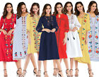 Ethnic Embroidered Women Summer Casual Tunic Dress Ukraine Ladies Party Clothes