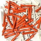"100 Quality Golf Tees 70mm (2 3/4"") White wooden Golf Tee 50 Castle Tees 70mm"